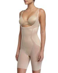Spanx Natural Haute Contour Open-bust Bodysuit