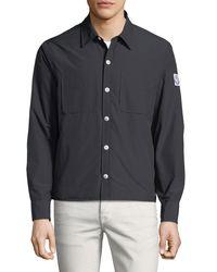 Moncler Gamme Bleu Blue Giubbotto Seersucker Field Jacket for men