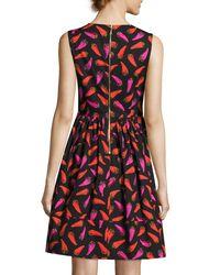 Kate Spade Black Hot Pepper Fit-and-flare Sleeveless Mini Dress
