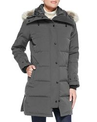 847a4a31054 Canada Goose Shelburne Slim-fit Parka W/ Removable Fur Trim in Gray ...