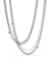 David Yurman Metallic Starburst Pearl Chain Necklace