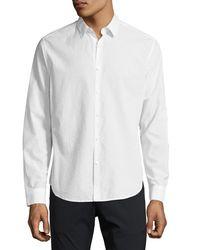 Theory | White Zack Seersucker Cotton Shirt for Men | Lyst
