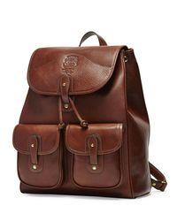 Ghurka Brown Blazer No. 278 Leather Backpack for men