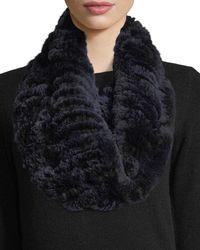 Neiman Marcus - Blue Luxury Rabbit Fur Snood - Lyst