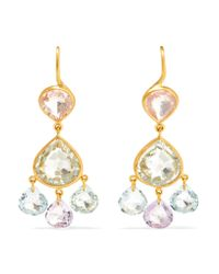 Marie-hélène De Taillac | Metallic 18-karat Gold Multi-stone Earrings | Lyst