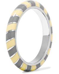 Alice Cicolini - Candy 18-karat White Gold Enamel Ring - Lyst