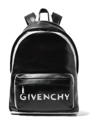 Givenchy Black Printed Leather Backpack