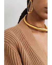 Alexander McQueen Metallic Gold-tone Earrings