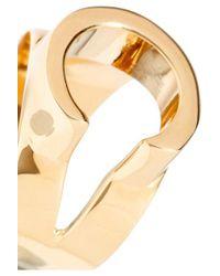 Chloé Metallic Alphabet Gold-tone Ring