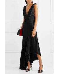 Rene Caovilla - Black Embellished Suede Sandals - Lyst