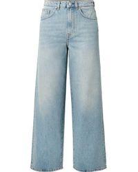 Totême  Blue Flair Hoch Sitzende Jeans Mit Weitem Bein