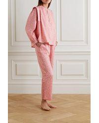LoveStories Pink Lois Bedrucktes Pyjama-oberteil Aus Baumwoll-voile
