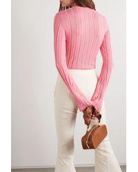 Maggie Marilyn Pink + Net Sustain The Sherbet Rippstrickpullover Aus Einer Wollmischung