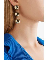 Balenciaga Metallic Gold-tone Clip Earrings