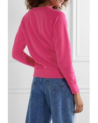 Étoile Isabel Marant Pink Milly Flocked Cotton-blend Jersey Sweatshirt