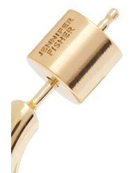 Jennifer Fisher Metallic Gold-plated Hoop Earrings And Ear Cuff Set