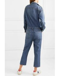 Combi-pantalon En Jean À Clous The Crew Current/Elliott en coloris Blue