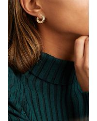 Melissa Kaye Metallic Jen 18-karat Gold Hoop Earrings