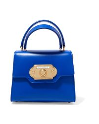 Dolce & Gabbana Blue Welcome Small Leather Tote
