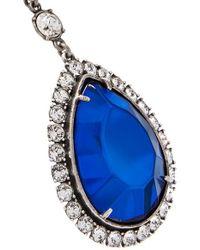 Balenciaga Blue Palladiumfarbene Oversized-ohrringe Mit Harz Und Kristallen