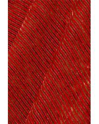 Ellery Red Footnote Schlaghose Aus Gestreiftem Stretch-samt