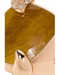 Pomellato Metallic 18-karat Rose Gold, Tiger Eye And Diamond Ring Rose Gold 15