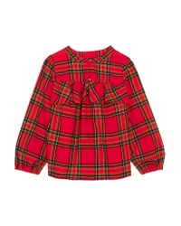 J.Crew - Red Gelder Ruffled Tartan Cotton-flannel Shirt - Lyst