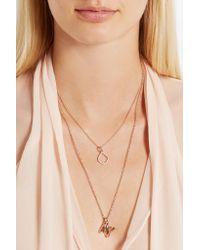 Monica Vinader - Metallic Riva Kite Rose Gold Vermeil Diamond Pendant - Lyst