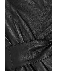 Robe Portefeuille En Cuir Rosetola Maje en coloris Black