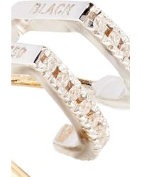 Maria Black | Metallic Bess Blanc Twirl 18-karat Gold, Rhodium-plated And Diamond Earring | Lyst