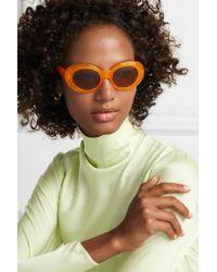 Acne Orange Mustang Round-frame Acetate Sunglasses
