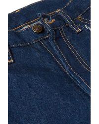Maison Margiela Blue Hoch Sitzende Jeans Mit Geradem Bein Und Cut-outs