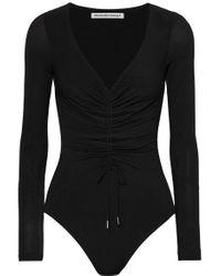 Body String En Jersey Stretch À Fronces Et À Découpes T By Alexander Wang en coloris Black