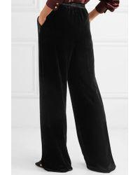 Etro Black Velvet Wide-leg Pants