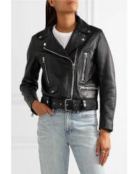 Acne Black Leather Biker Jacket