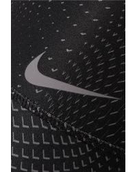 Nike - Black Power Printed Dri-fit Stretch Leggings - Lyst