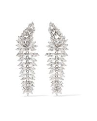 Kenneth Jay Lane - Multicolor Rhodium-plated Cubic Zirconia Earrings - Lyst