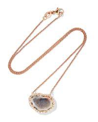 Kimberly Mcdonald - Metallic 18-karat Rose Gold, Geode And Diamond Necklace - Lyst
