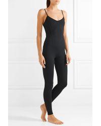 Live The Process Black Corset Stretch-supplex Bodysuit