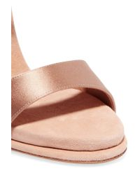 Paul Andrew - Multicolor Kalida Satin And Suede Sandals - Lyst