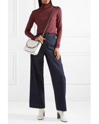 Stella McCartney | White The Falabella Box Small Croc-effect Faux Leather Shoulder Bag | Lyst