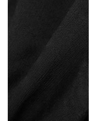 Racil Black Rückenfreies Maxikleid Aus Crêpe De Chine