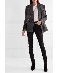 Saint Laurent Black Hoch Sitzende Skinny Jeans