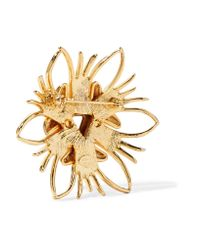 Kenneth Jay Lane - Metallic Gold-tone Brooch - Lyst