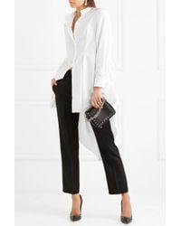 Alexander McQueen White Draped Cotton-poplin Shirt