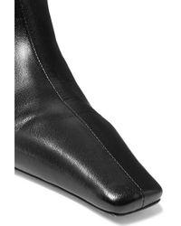 Khaite Black Ankle Boots Aus Leder