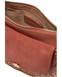 See By Chloé Multicolor Kriss Small Eyelet-embellished Textured-leather And Suede Shoulder Bag