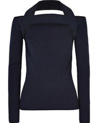 Dion Lee Black Pullover Aus Merinowolle Mit Cut-outs
