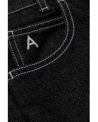 Jean Évasé Raccourci Taille Haute Blanca The Attico en coloris Black