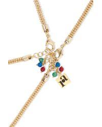 Rosantica - Metallic Vita Set Of Two Reversible Gold-tone Resin Necklaces - Lyst